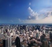 Flyg- sikt av den Bangkok staden Fotografering för Bildbyråer