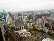 Flyg- sikt av den Bangkok staden Royaltyfri Foto