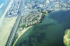 Flyg- sikt av den Coronado ön, San Diego Royaltyfri Fotografi