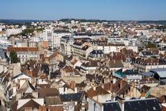 Flyg- sikt av den Dijon staden i Frankrike Royaltyfria Foton