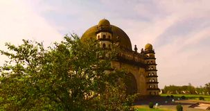 Flyg- sikt av den forntida slotten i Indien lager videofilmer