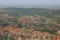 Flyg- sikt av den gamla staden Esslingen Royaltyfria Foton