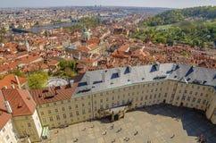 Flyg- sikt av den gamla staden i Prague, Tjeckien Royaltyfri Fotografi