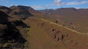 Flyg- sikt av den Gran Canaria dalen lager videofilmer