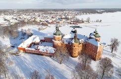 Flyg- sikt av den Gripsholm slotten Royaltyfria Foton