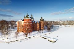 Flyg- sikt av den Gripsholm slotten Royaltyfria Bilder