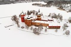 Flyg- sikt av den Gripsholm slotten Royaltyfri Fotografi