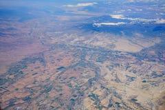 Flyg- sikt av den härliga Olathe cityscapen Arkivbild