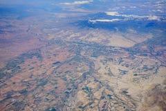 Flyg- sikt av den härliga Olathe cityscapen Arkivfoton