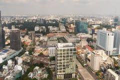Flyg- sikt av den Ho Chi Minh City gamlan Saigon Royaltyfri Fotografi