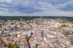Flyg- sikt av den holländska staden Arnhem i landskapet av Gelderla Royaltyfri Foto