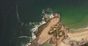 Flyg- sikt av den Ipanema stranden lager videofilmer