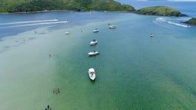 Flyg- sikt av den japanska ön lager videofilmer