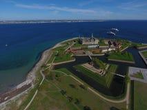 Flyg- sikt av den Kronborg slotten, Danmark royaltyfria bilder
