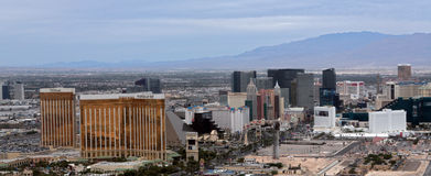 Flyg- sikt av den Las Vegas remsan Royaltyfri Fotografi