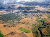 Flyg- sikt av den Loddekopinge staden i Sverige Arkivbilder