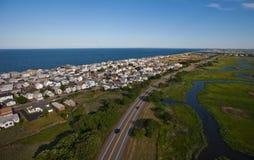 Flyg- sikt av den Massachusetts kusten royaltyfria bilder