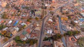 Flyg- sikt av den Morogoro staden arkivfoton