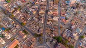Flyg- sikt av den Morogoro staden royaltyfria foton