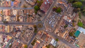 Flyg- sikt av den Morogoro staden royaltyfri fotografi