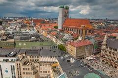 Flyg- sikt av den Munich Tyskland Arkivbilder