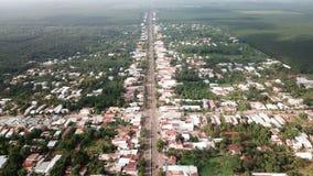 Flyg- sikt av den Ngai Giao staden arkivfoton