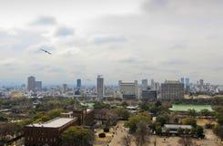 Flyg- sikt av den Osaka staden Fotografering för Bildbyråer