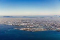 Flyg- sikt av den Osaka staden Royaltyfria Foton