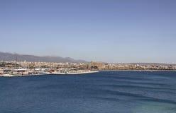 Flyg- sikt av den Palma de Mallorca staden Fotografering för Bildbyråer