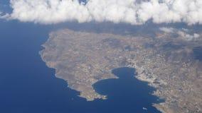 Flyg- sikt av den Paros ön stock video