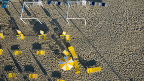 Flyg- sikt av den privata stranden Fotografering för Bildbyråer