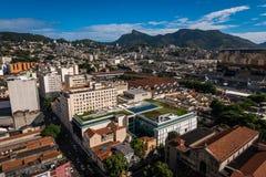 Flyg- sikt av den Rio de Janeiro staden royaltyfria bilder