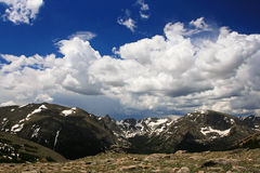 Flyg- sikt av den Rocky Mountain nationalparken i Colorado Arkivbild
