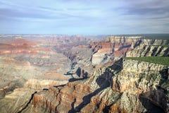 Flyg- sikt av den södra kanten för Grand Canyon ` s i Arizona Arkivbilder