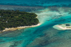 Flyg- sikt av den Sainte Marie ön, Madagascar Royaltyfri Fotografi