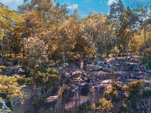 Flyg- sikt av den `-Salto Suizo `en den högsta vattenfallet av Paraguay Arkivbilder
