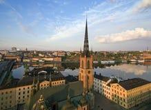 Flyg- sikt av den Stockholm staden Arkivfoton