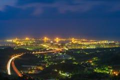 Flyg- sikt av den Taipei staden royaltyfria foton
