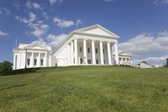 Flyg- sikt av den 2007 återställda Virginia State Capitol Royaltyfri Foto