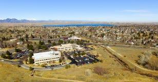 Flyg- sikt av Denver i Colorado Royaltyfri Fotografi
