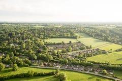 Flyg- sikt av det Buckinghamshire landskapet Arkivfoto