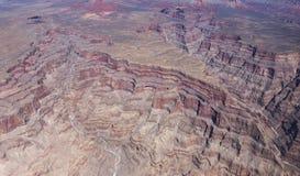 Flyg- sikt av det Colorado Grandet Canyon, Arizona, Arkivfoto