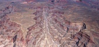 Flyg- sikt av det Colorado Grandet Canyon, Arizona, Arkivfoton