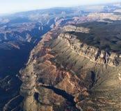 Flyg- sikt av det Colorado Grandet Canyon, Arizona, USA Arkivfoton
