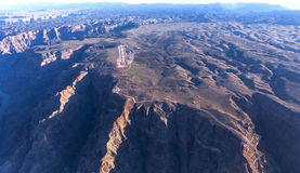 Flyg- sikt av det Colorado Grandet Canyon, Arizona, USA Arkivbilder