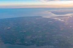 Flyg- sikt av det härliga Colchester området royaltyfri foto