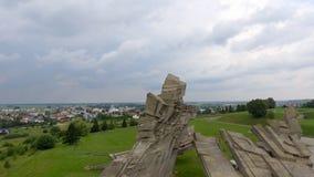 Flyg- sikt av det nionde fortet, Kaunas Royaltyfri Fotografi