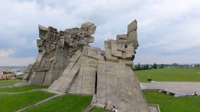 Flyg- sikt av det nionde fortet, Kaunas Arkivbild