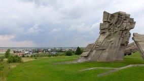 Flyg- sikt av det nionde fortet, Kaunas Royaltyfria Bilder