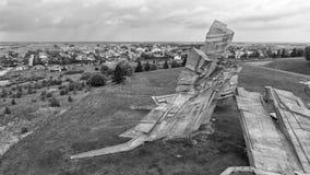 Flyg- sikt av det nionde fortet, Kaunas Royaltyfri Foto
